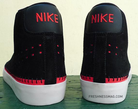Nike Sportswear Blazer Mid ND - Black / Hot Red