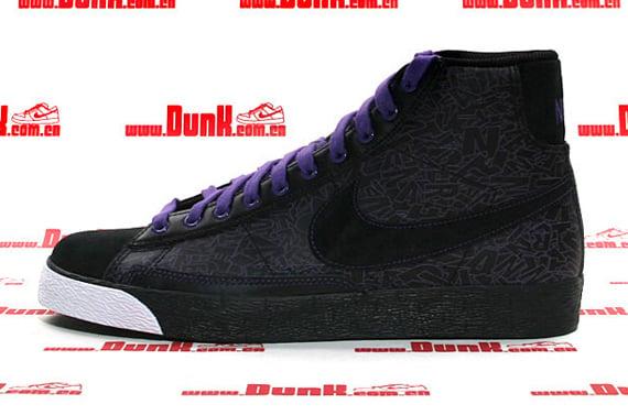 Nike Blazer Mid Premium ND - Black / Black - Varsity Purple - White