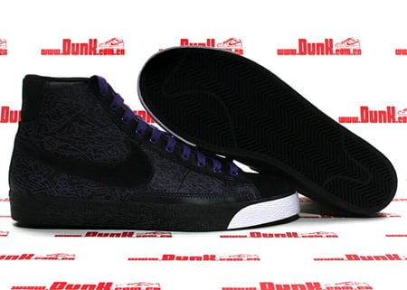 Nike Blazer Mid Premium ND - Black / Black - Varsity Purple - White