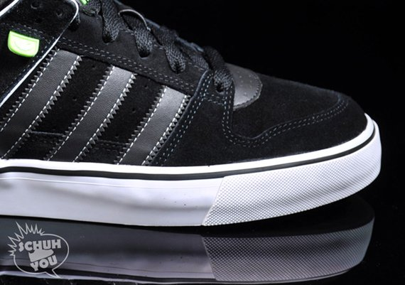 This pair of skate shoes is available now online for about $102. Adidas