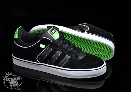 Adidas Skate Culver Vulc - Black / White / Neon Green