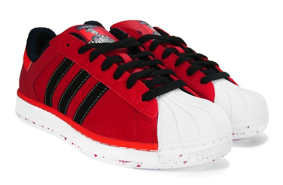 Mens Cheap Adidas Superstar 80s CITY PACK RED LONDON Trainers