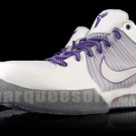Nike Zoom Kobe IV (4) - White/Grey - Varsity Purple