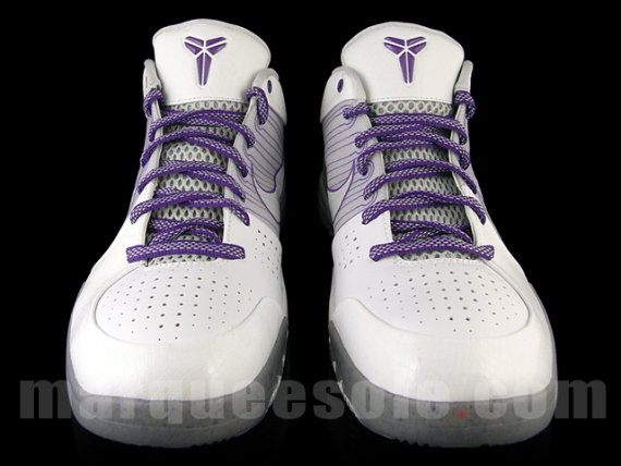 Nike Zoom Kobe IV (4) - White/Grey - Varsity Purple
