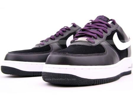 Nike Air Force 1 Black White Grand Purple