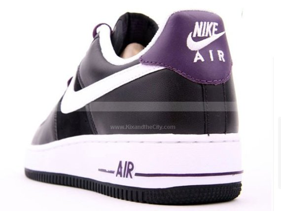 Nike Air Force 1 - Black / White - Grand Purple