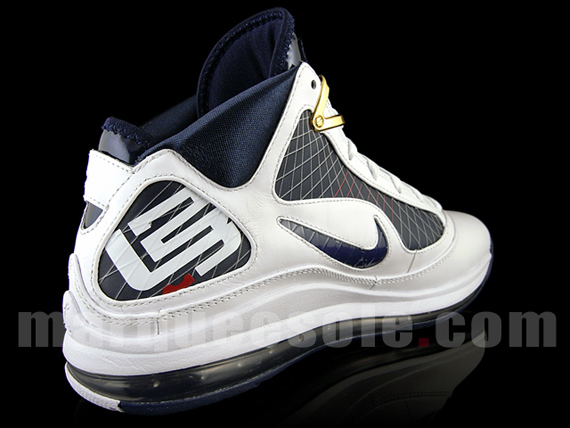 Nike Air Max LeBron VII (7) - White / Navy - Red