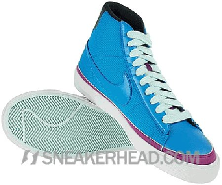 Nike Blazer Mid ND Women's - Orion Blue/ Orion Blue - Red Plum - Black