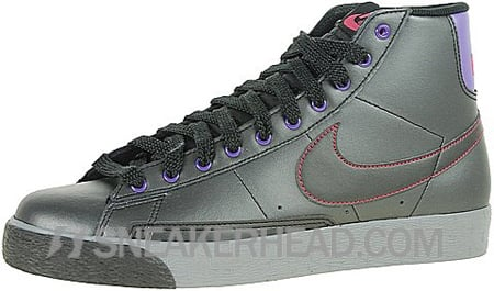 Nike Blazer High Women's - Black / Clear Grey - Varsity Purple