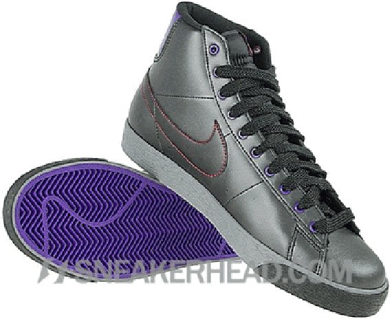 new product 25a93 9d4a8 Nike Blazer High Women s - Black   Clear Grey - Varsity Purple