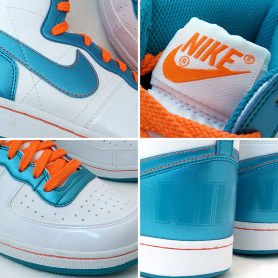 9ec782e41b Nike Terminator High Basic Women's - White / Emerald Green - Orange ...