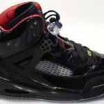 Air Jordan Spizike Black/Black-Red Patent Leather