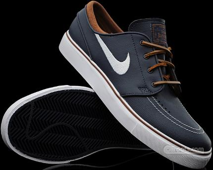 the best attitude ddd14 f1fba Nike SB Zoom Stefan Janoski Obsidian Leather-Brown White