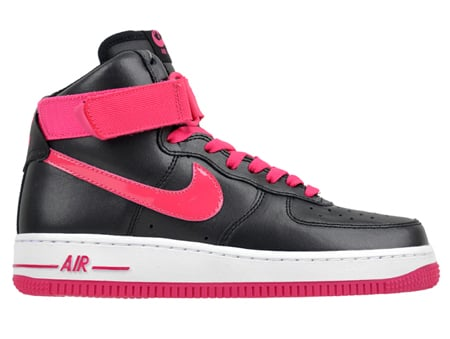 factory authentic 046e8 2ff32 Nike Air Force 1 High '08 Women's - Black / Pink | SneakerFiles