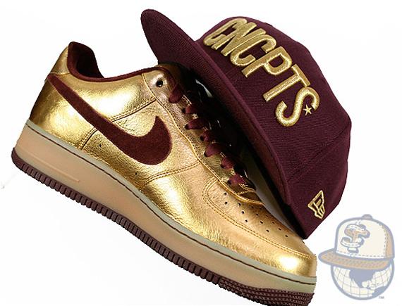 Nike Air Force 1 Bespoke - Mayor Metallic Gold