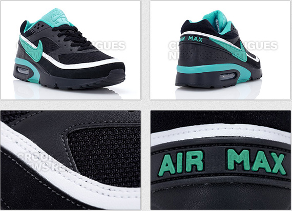 Nike Air Max Classic BW Women's - Black / Emerald Green