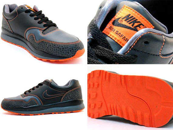 Nike Air Safari LE - Black / Grey - Orange