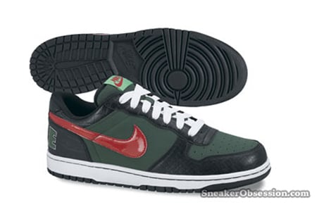 Nike Big Nike Low - Green / Black - Team Red