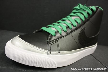 Nike Blazer Mid 09 ND - Black / Lucky Green - Metallic Silver