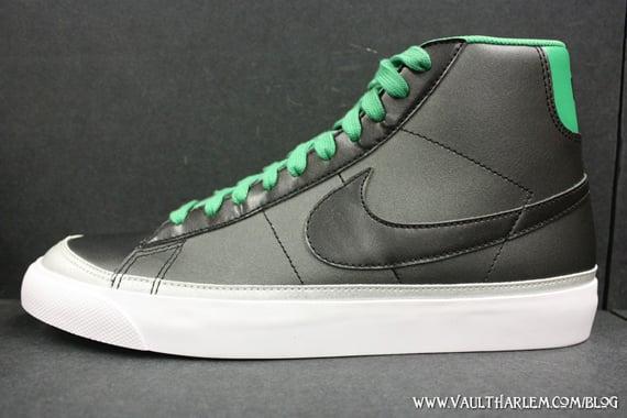 Nike Blazer Mid 09 ND - Black / Lucky Green - Metallic Silver