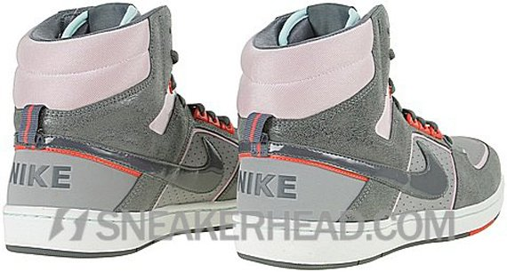 Nike Delta High Lite Women's - Stealth / Dark Grey - Pink - Hot Red