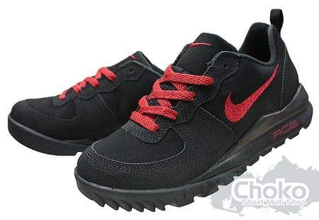 Nike Takos Low GS - Black / Varsity Red - Dark Grey
