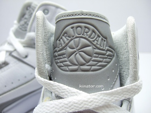 good Air Jordan II White Metallic Silver Detailed Pictures ... 5d2ddc12ef48