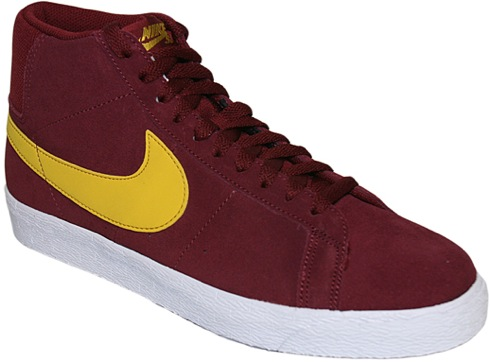 029edcea6de388 All the way back in June we previewed for you a pair of the Nike SB Blazer  High in what resembles a University of Southern California colorway by way  of a ...