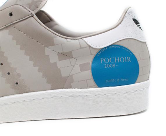 Pochoir x Adidas Superstar 80 - Five Two-3 City Artist Series