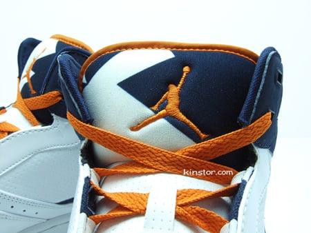 Air Jordan 1 Vol Mid Blanc Bleu Orange HQkBwa0