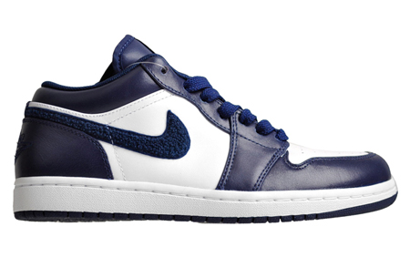 Air Jordan I (1) Phat Low - White / Midnight Navy