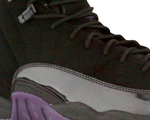 Air Jordan 12 (XII) Black Grand Purple Aquamarine