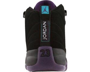 Air Jordan 12 (XII) Black Grand Purple Aquamarine