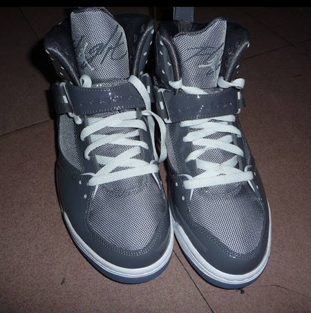 Air Jordan Flight 45 High - Light Graphite   Stealth - White ... 0f54476d9