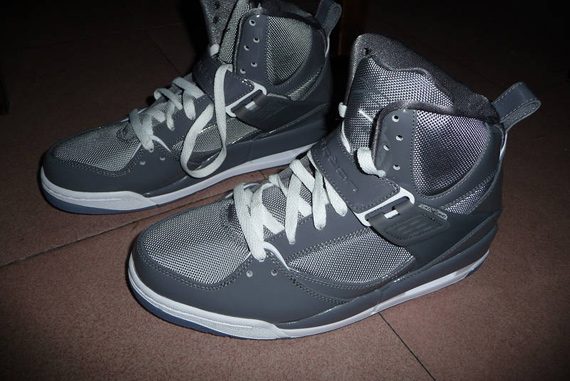 Air Jordan Flight 45 High - Light Graphite / Stealth - White