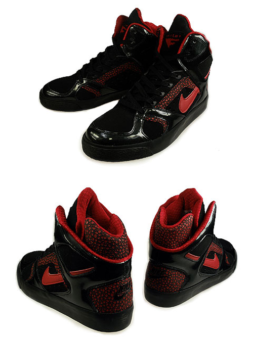 Nike High Tops Black And Red. The predominantly Black model