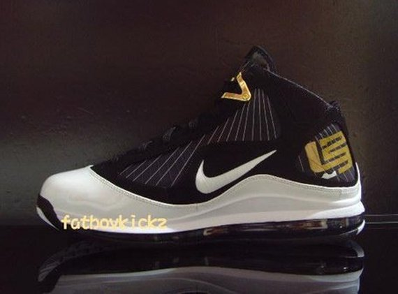 Nike Air Max LeBron VII (7) - Black / White / Gold Preview