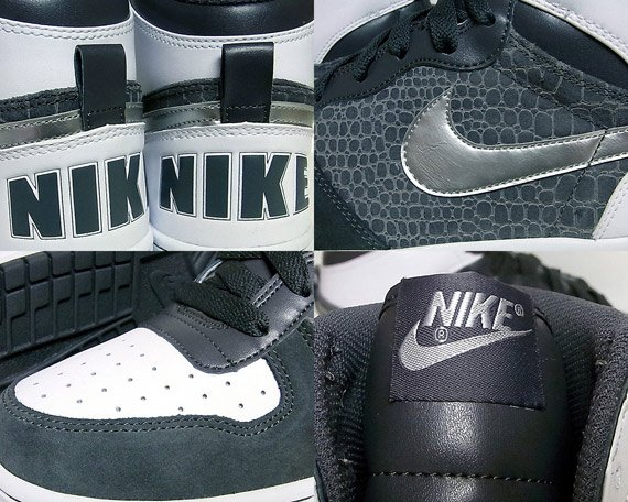 Nike Big Nike High - Dark Grey / Metallic Silver - White