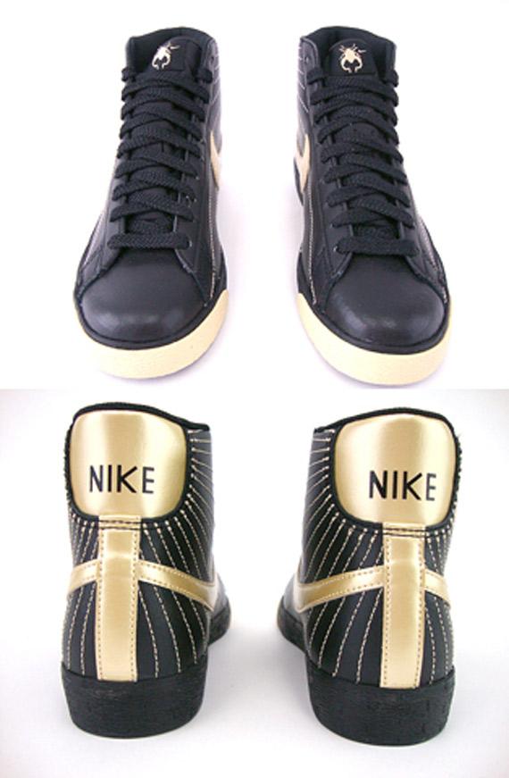 Nike Blazer High Women's - Black / Metallic Gold