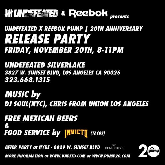 Undftd x Reebok Pump 20 Release Party