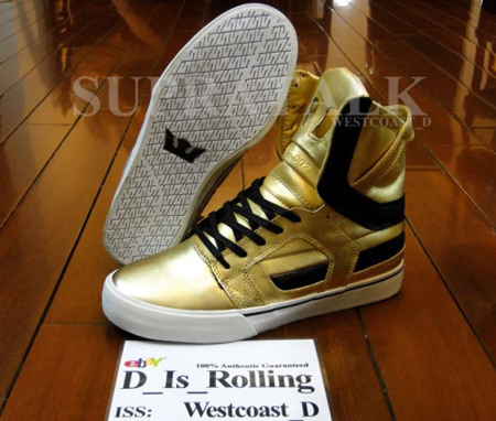 best website 55f96 1085c Supra Skytop II - Metallic Gold Sample