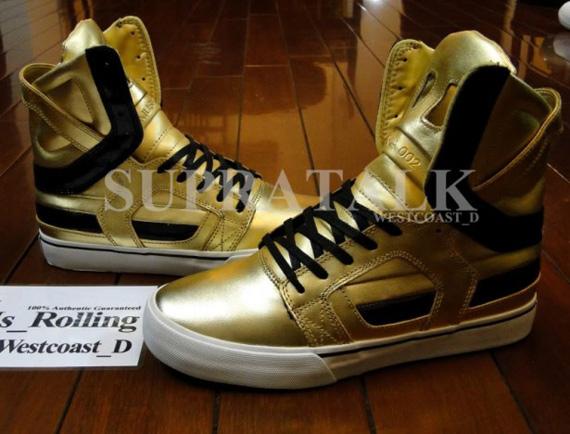 Supra Skytop II - Metallic Gold Sample