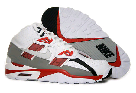 Nike Air Trainer SC High - White / Neutral Grey- Beet - Medium Grey