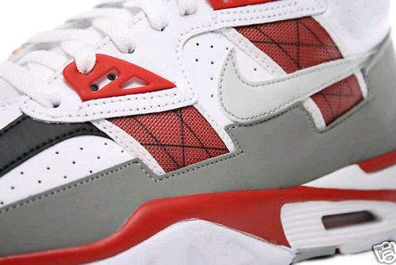 Nike Air Trainer SC High - White / Neutral Grey- Beet - Medium Grey