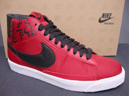 Nike Blazer Rouge Et Noir