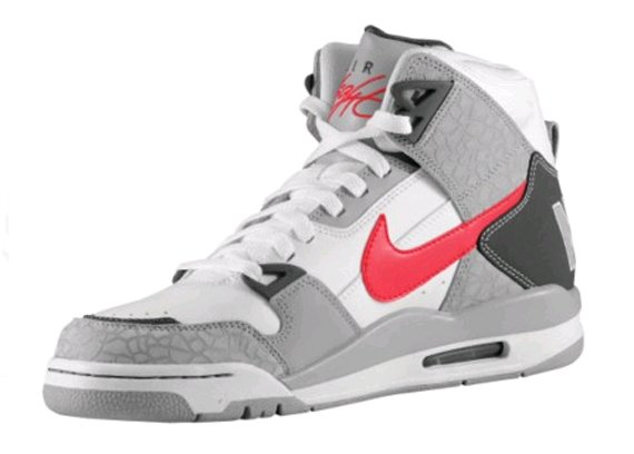 """e107d67cdea519 """"NIKE"""" is swatted in big letters on the back heel to offset the classic  Flight logo on the tongue. If you re digging these Flights"""