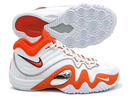 Nike Zoom Uptempo V (5) Premium - White / Orange Blaze - Midnight Navy