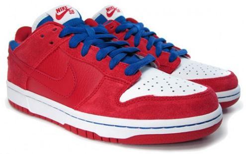 Nike SB Dunk Low Red/Blue-White