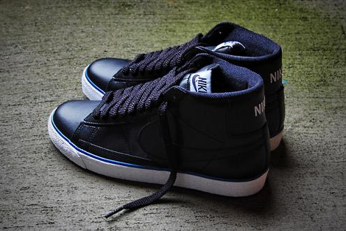 Nike Sportswear Blazer High Black White-Blue  e15c71f90050