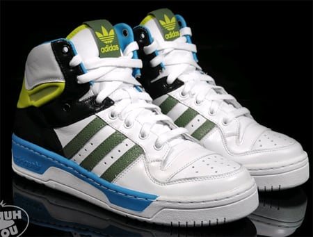 grand choix de 2c274 82bf2 Adidas Metro Attitude Hi - White / Black / Green / Blue ...